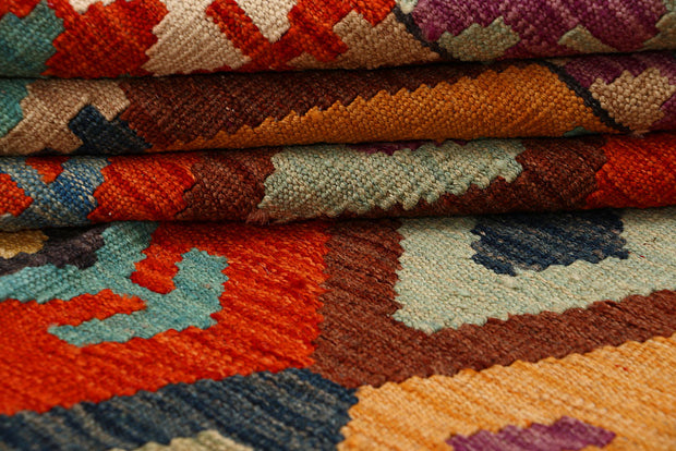 Multi Colored Kilim 6' 7 x 9' 8 - No. 66944 - ALRUG Rug Store