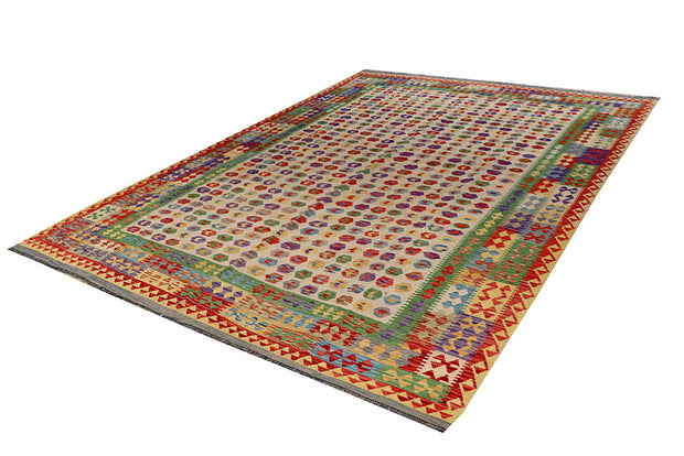 Multi Colored Kilim 8' 2 x 11' 5 - No. 66949 - ALRUG Rug Store
