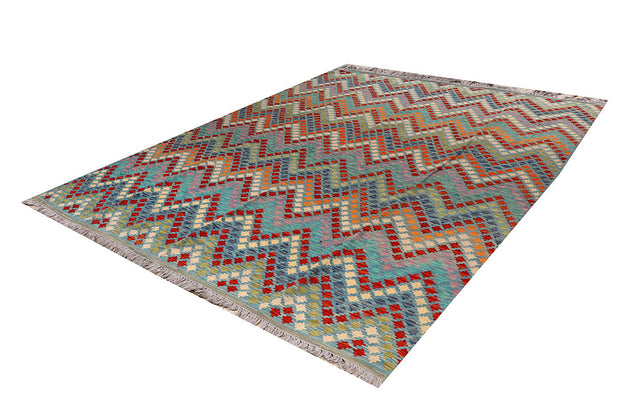 Multi Colored Kilim 8' 6 x 10' 5 - No. 66952 - ALRUG Rug Store