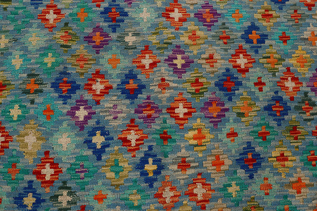Multi Colored Kilim 8' 5 x 9' 9 - No. 66956 - ALRUG Rug Store
