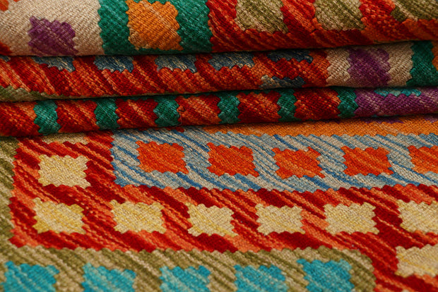 Multi Colored Kilim 8' 6 x 9' 9 - No. 66957 - ALRUG Rug Store