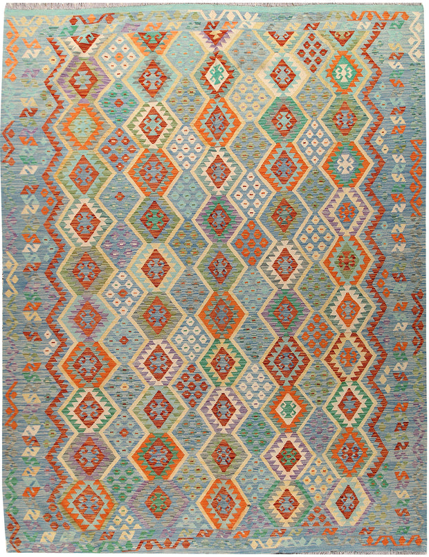 Multi Colored Kilim 9' 1 x 12' - No. 66963 - ALRUG Rug Store