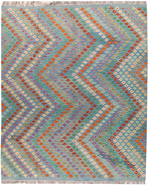 Multi Colored Kilim 8' x 9' 9 - No. 66964 - ALRUG Rug Store