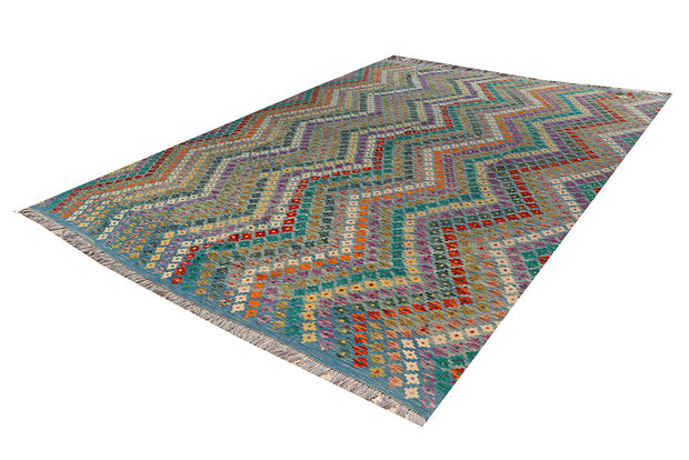 Multi Colored Kilim 9' 5 x 11' 9 - No. 66973 - ALRUG Rug Store