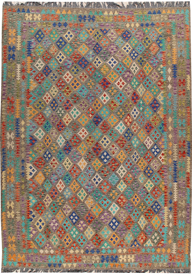 Multi Colored Kilim 8' 6 x 11' 8 - No. 66978 - ALRUG Rug Store