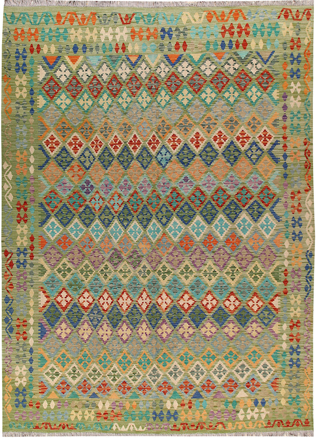 Multi Colored Kilim 8' 5 x 11' 8 - No. 66994 - ALRUG Rug Store