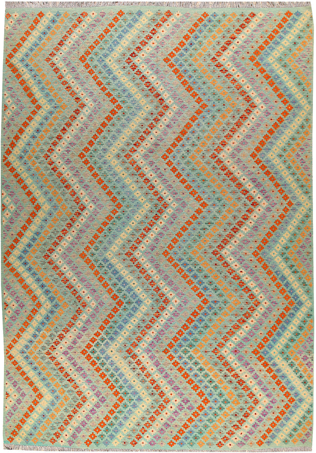 Multi Colored Kilim 8' 8 x 12' - No. 66995 - ALRUG Rug Store