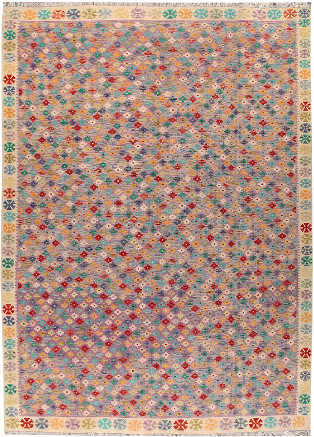 Multi Colored Kilim 8' 9 x 12' 3 - No. 66996 - ALRUG Rug Store