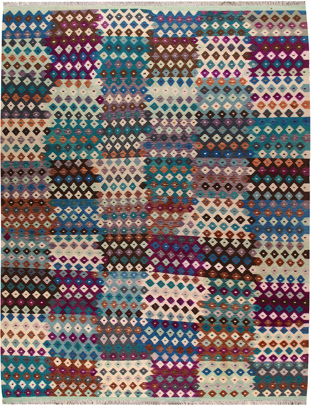 Multi Colored Kilim 10' 1 x 12' 11 - No. 66998 - ALRUG Rug Store
