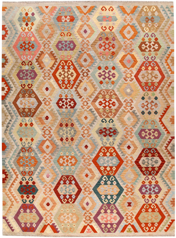 Multi Colored Kilim 8' 4 x 11' 3 - No. 66999 - ALRUG Rug Store