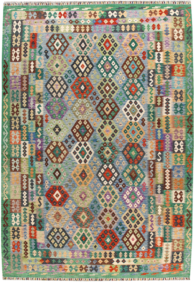Multi Colored Kilim 8' 2 x 11' 7 - No. 67001 - ALRUG Rug Store