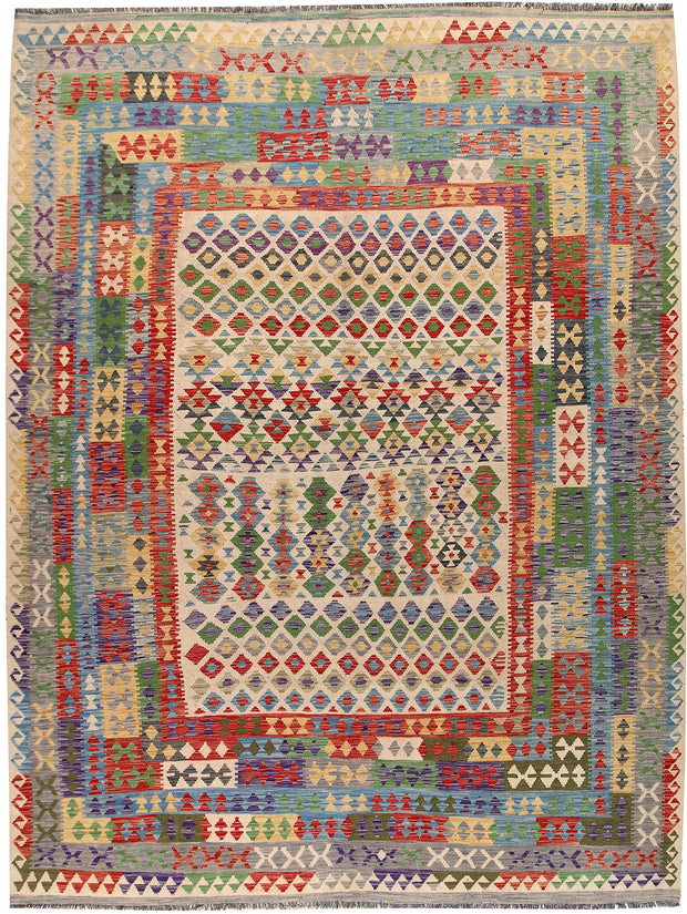 Multi Colored Kilim 8' 4 x 11' 2 - No. 67003 - Alrug Rug Store