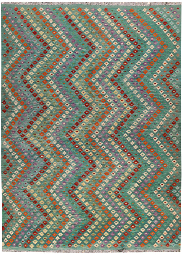 Multi Colored Kilim 8' 3 x 11' 3 - No. 67005 - ALRUG Rug Store