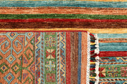 Multi Colored Kazak 4' 10 x 6' 10 - No. 67251 - ALRUG Rug Store
