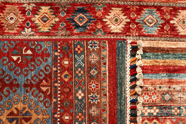 Multi Colored Kazak 5' 9 x 8' - No. 67297 - ALRUG Rug Store