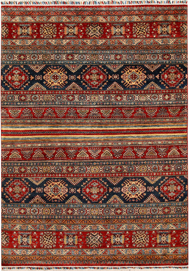 Multi Colored Kazak 5' 6 x 7' 9 - No. 67299 - ALRUG Rug Store