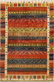 Multi Colored Kazak 6' 7 x 9' 9 - No. 67304 - ALRUG Rug Store