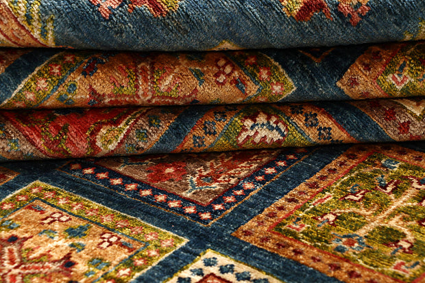 Multi Colored Kazak 5' 7 x 7' 7 - No. 67329 - ALRUG Rug Store