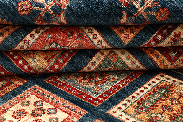 Multi Colored Kazak 5' 10 x 8' 3 - No. 67330 - ALRUG Rug Store