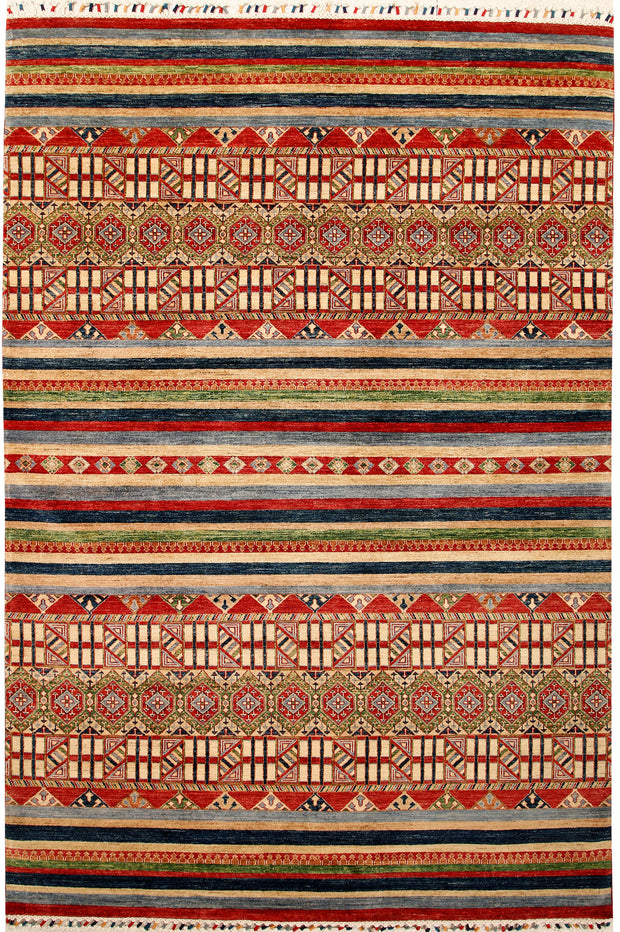 Multi Colored Kazak 6' 8 x 10' 1 - No. 67334 - ALRUG Rug Store