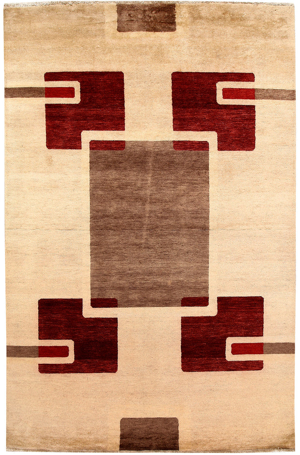 Multi Colored Gabbeh 5' 6 x 8' 4 - No. 67348 - ALRUG Rug Store