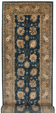 Steel Blue Oushak 4' x 16' 5 - No. 67364 - ALRUG Rug Store
