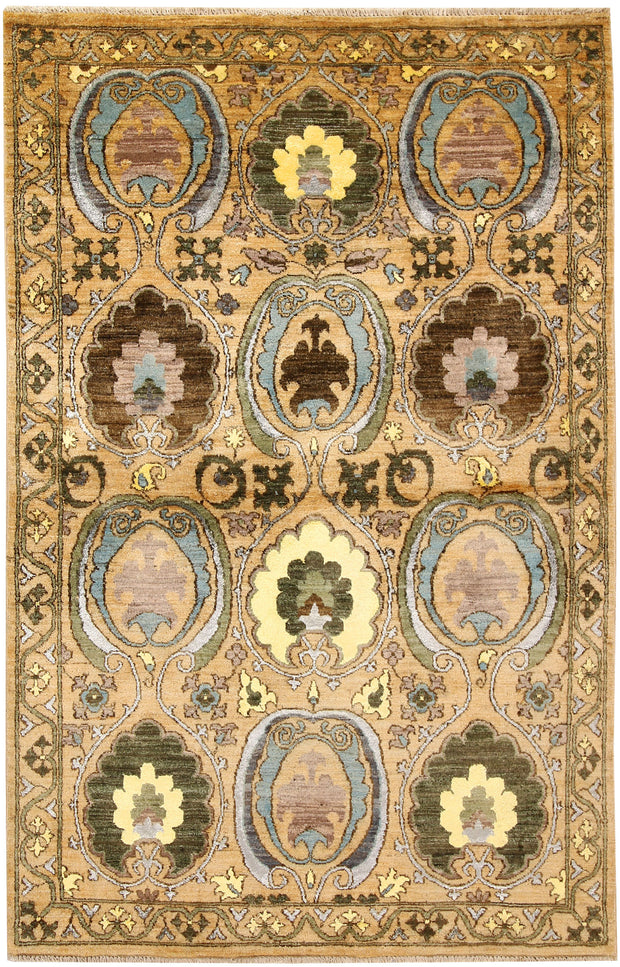 Multi Colored Ikat 4' 1 x 6' 4 - No. 67366 - ALRUG Rug Store