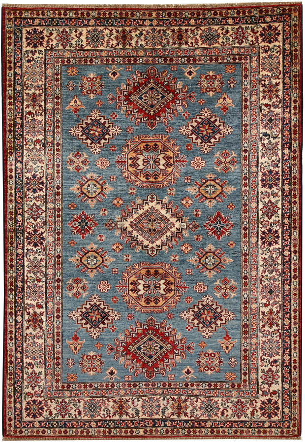 Light Slate Grey Kazak 5' 7 x 8' - No. 67373 - ALRUG Rug Store