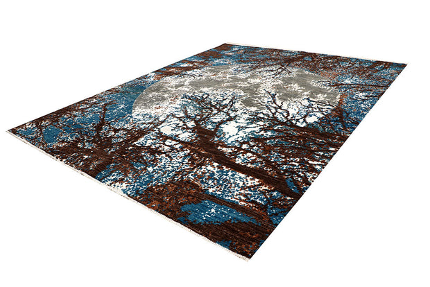 Multi Colored Abstract 8' x 10' 4 - No. 67398 - Alrug Rug Store