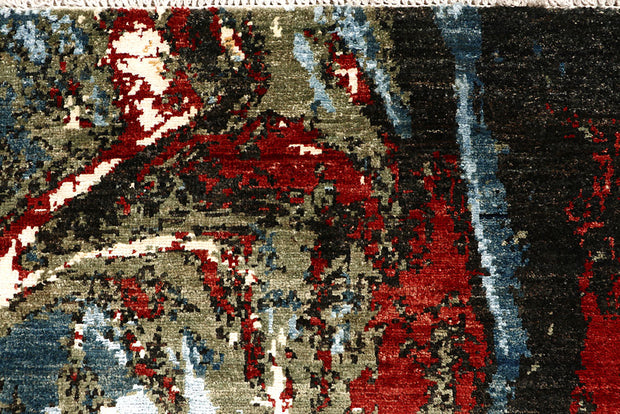 Multi Colored Abstract 4' x 5' 11 - No. 67405 - ALRUG Rug Store