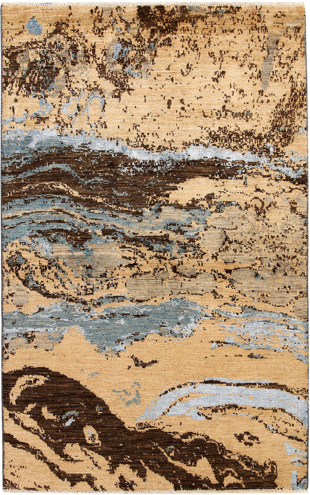 Multi Colored Abstract 4' x 6' 5 - No. 67406 - ALRUG Rug Store