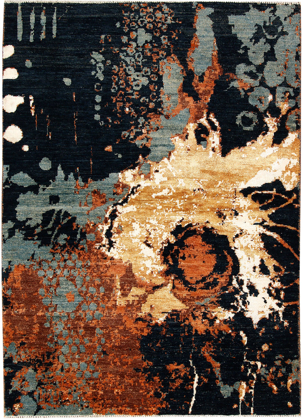 Multi Colored Abstract 4' 1 x 5' 9 - No. 67408 - ALRUG Rug Store