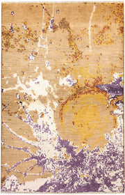 Multi Colored Abstract 4' x 6' 1 - No. 67409 - ALRUG Rug Store