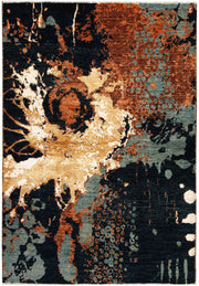 Multi Colored Abstract 4' x 5' 10 - No. 67410 - ALRUG Rug Store
