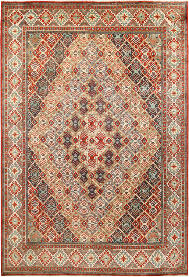 Multi Colored Kazak 8' 4 x 12' 4 - No. 67453 - ALRUG Rug Store