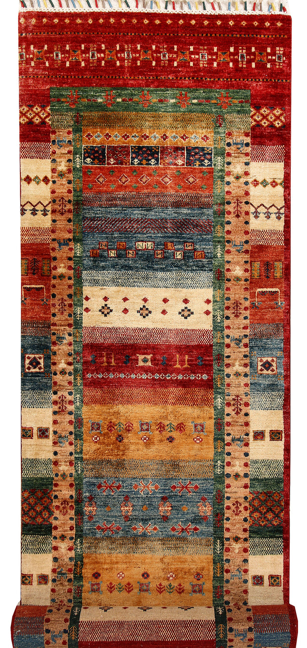 Multi Colored Kazak 2' 7 x 9' 11 - No. 67671 - ALRUG Rug Store
