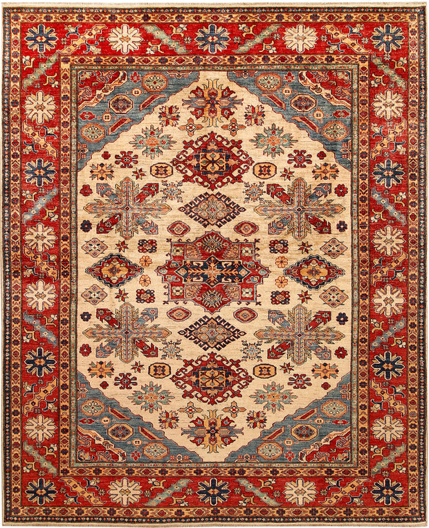 Blanched Almond Kazak 8' 2 x 9' 11 - No. 67782 - ALRUG Rug Store