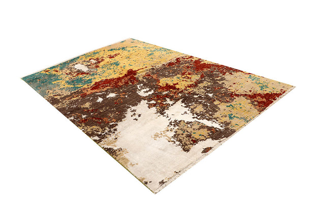 Multi Colored Abstract 6' 2 x 9' - No. 67798 - ALRUG Rug Store