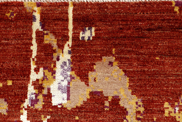 Multi Colored Abstract 4' 1 x 6' 3 - No. 67809 - ALRUG Rug Store