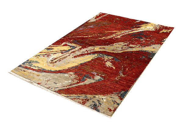 Multi Colored Abstract 4' 1 x 6' 3 - No. 67810 - ALRUG Rug Store