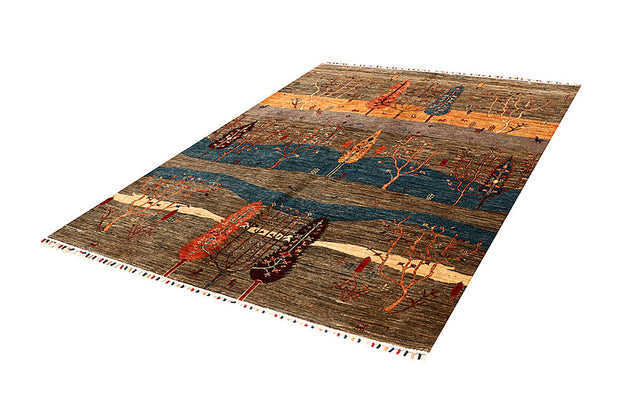 Multi Colored Kazak 5' 8 x 7' 10 - No. 67885 - ALRUG Rug Store