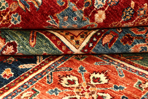 Multi Colored Kazak 5' 10 x 8' - No. 67890 - ALRUG Rug Store