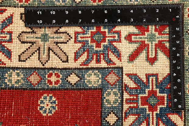 Red Kazak 4' 11 x 6' 9 - No. 67973 - ALRUG Rug Store