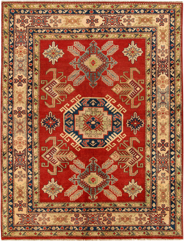 Red Kazak 5' 7 x 7' 5 - No. 67982 - ALRUG Rug Store
