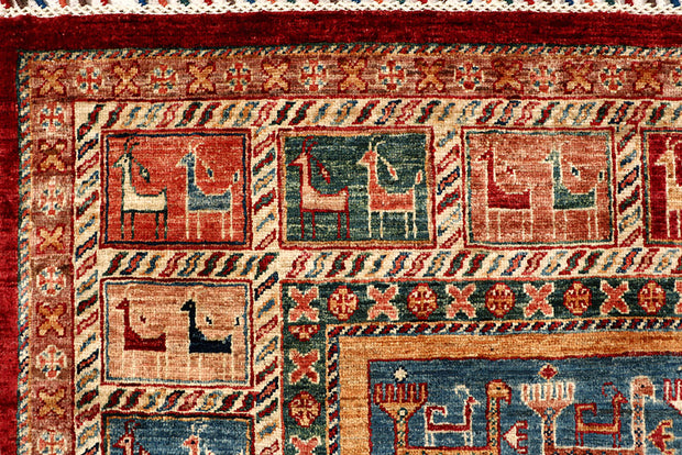 Multi Colored Kazak 5' 10 x 8' 1 - No. 68049 - Alrug Rug Store