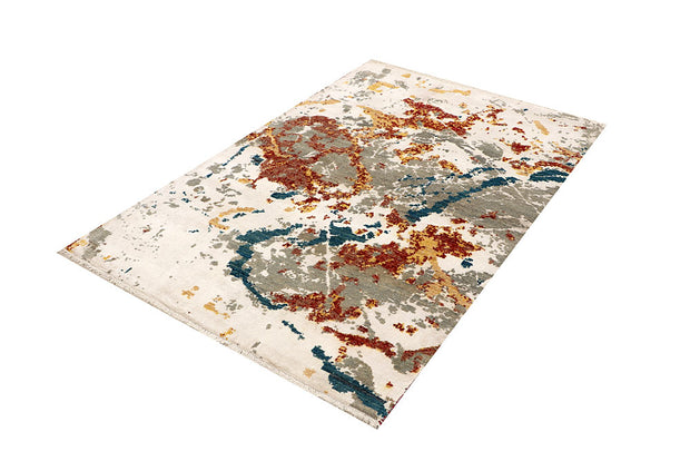 Multi Colored Abstract 4' 1 x 6' - No. 68064 - ALRUG Rug Store