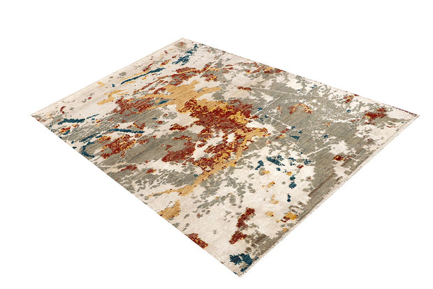 Multi Colored Abstract 4' 2 x 6' - No. 68065 - Alrug Rug Store