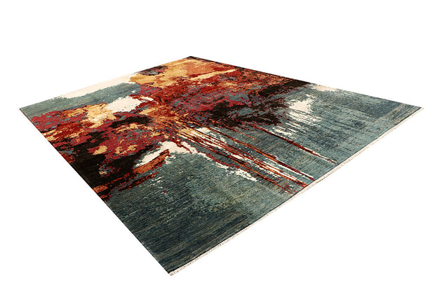 Multi Colored Abstract 9' x 11' 11 - No. 68067 SQM:9.96