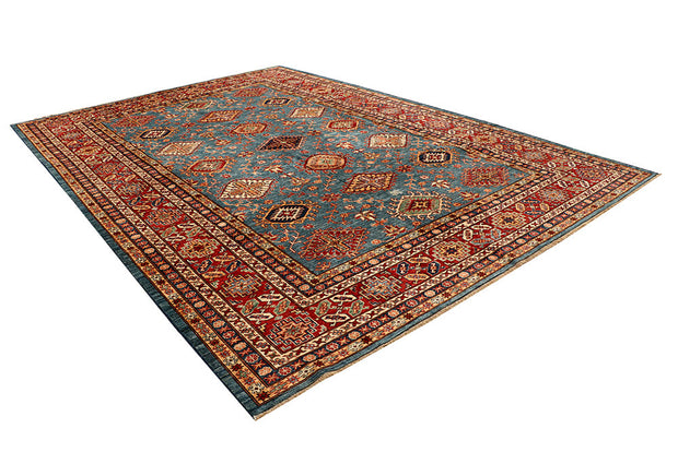 Light Slate Grey Kazak 8' 9 x 12' - No. 68070 - ALRUG Rug Store