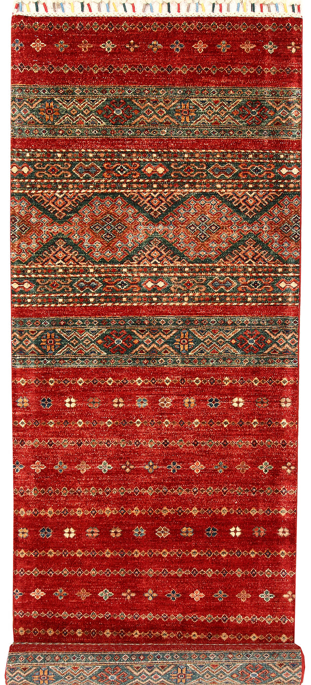 Multi Colored Kazak 2' 8 x 13' - No. 68119 - ALRUG Rug Store